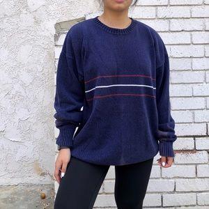 Vintage blue stripe knit sweater